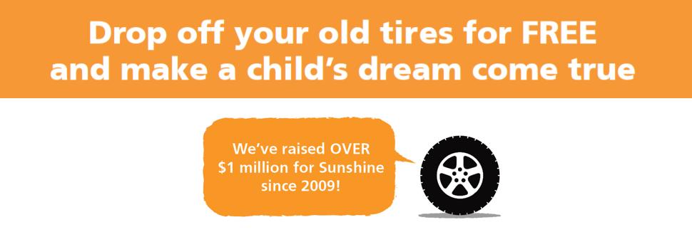עדכני Drop off your Tires for FREE and make a child's dream come true! GL-77